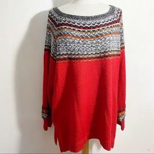 MAURICES EUC fair isle acrylic pullover sweater 2X